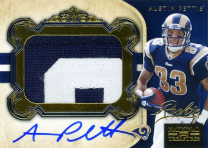 2011 National Treasures Football Autographed Patch 311 Austin Pettis 49 Image
