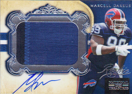 2011 National Treasures Football Autographed Patch 314 Marcell Dareus Image