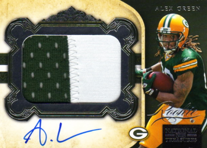 2011 National Treasures Football Autographed Patch 316 Alex Green Image