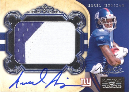2011 National Treasures Football Autographed Patch 317 Jerrel Jernigan Image