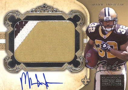 2011 National Treasures Football Autographed Patch 318 Mark Ingram Image