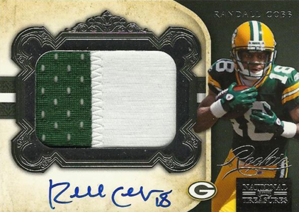 2011 National Treasures Football Autographed Patch 330 Randall Cobb Image