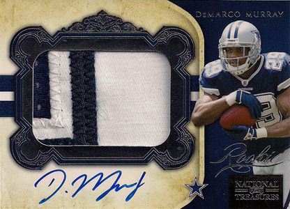 2011 National Treasures Football Autographed Patch 331 DeMarco Murray Image