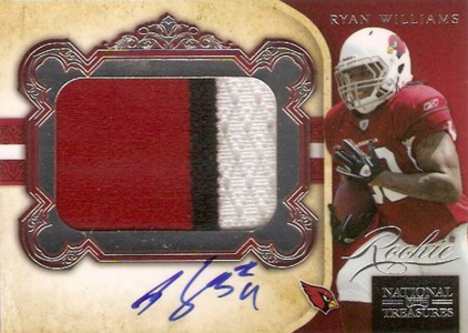 2011 National Treasures Football Autographed Patch 334 Ryan Williams Image