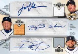 2012 Topps Triple Threads Autographed Combo Relic Card Image
