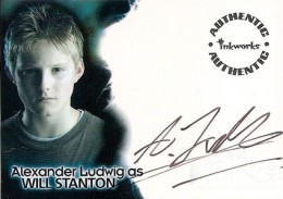 Hunger Games Autographs 2007 Inkworks The Seeker Alexander Ludwig Autograph 260x183 Image