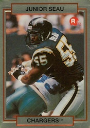 1990 Action Packed Rookie Update Junior Seau Image