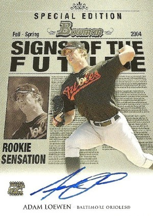 2004 Bowman Draft Signs of the Future Adam Loewen Image