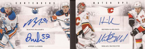 2011 12 Panini Contenders Match Ups Booklets Oilers Flames Image