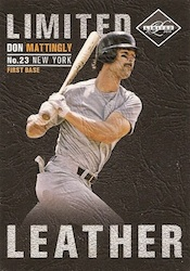 2011 Limited Baseball Limited Leather Card Image