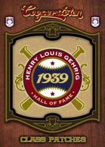 2012 Panini Cooperstown Baseball Class Patches Lou Gehrig 214x300 Image