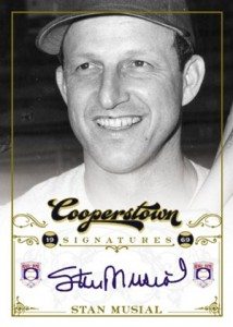 2012 Panini Cooperstown Baseball Cooperstown Signatures Stan Musial 214x300 Image