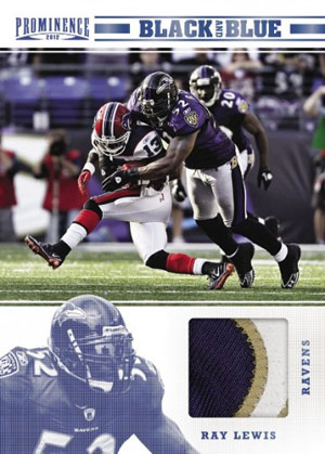 2012 Panini Prominence Black and Blue Ray Lewis Image