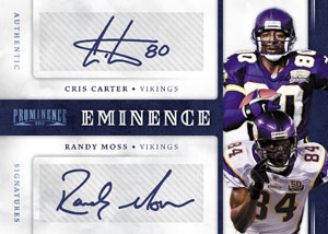 2012 Panini Prominence Eminence Chris Carter Randy Moss Image