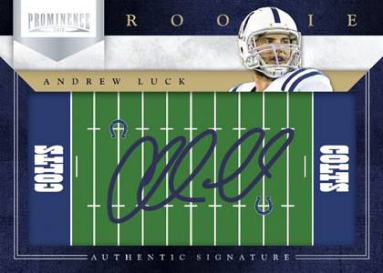 2012 Panini Prominence Field Plates Autographs Andrew Luck Image