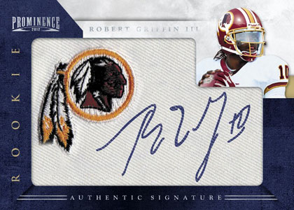 2012 Panini Prominence Rookie Autograph Patch Robert Griffin III Image
