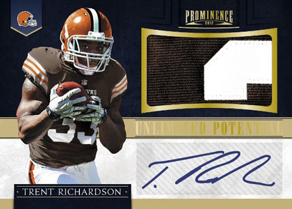 2012 Panini Prominence Unlimited Autograph Trent Richardson Image