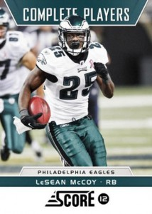 2012 Score Football Complete Players LeSean McCoy 214x300 Image
