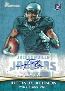 2012 Bowman Football Autographs Justin Blackmon 214x300 Image