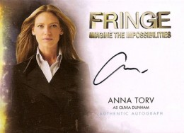2012 Cryptozoic Fringe Seasons 1 and 2 Autographs A1 Anna Torv as Olivia Dunham