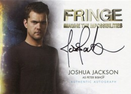 2012 Cryptozoic Fringe Seasons 1 and 2 Autographs A2 Joshua Jackson as Peter Bishop