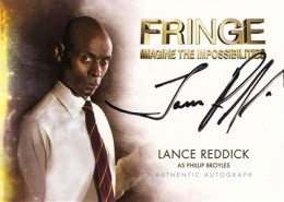 2012 Cryptozoic Fringe Seasons 1 and 2 Autographs A3 Lance Reddick as Phillip Broyles