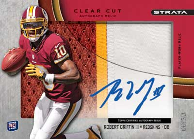 2012 Topps Strata Football Clear Cut Autograph Robert Griffin III Image