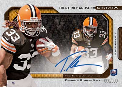 2012 Topps Strata Football Clear Cut Autograph Trent Richardson Image