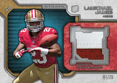 2012 Topps Strata Football Relic LaMichael James Image