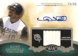 2012 Topps Tier One Baseball Autographed Top Shelf Relics Card Image