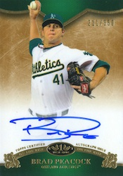 2012 Topps Tier One Baseball On the Rise Autograph Card Image