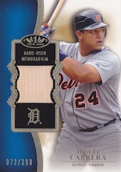 2012 Topps Tier One Baseball Top Shelf Relics Card Image