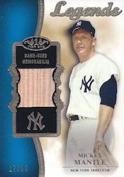 2012 Topps Tier One Baseball Top Shelf Relics Legend Card Image