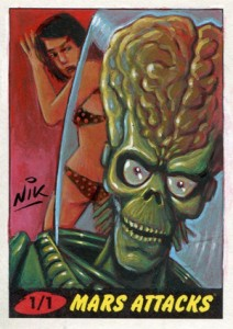 10 2012 Topps Mars Attacks Heritage Sketch Card Nik Neocleous 212x300 Image