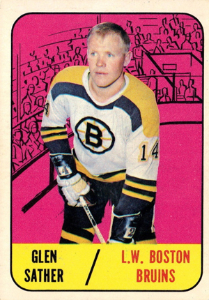 1967-68 Topps Hockey Base Card - Glen Sather RC