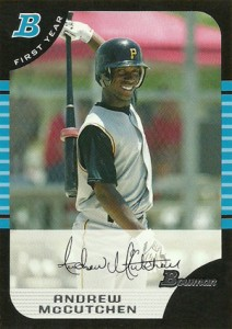 Andrew McCutchen Rookie Cards - 2005 Bowman Draft Andrew McCutchen RC