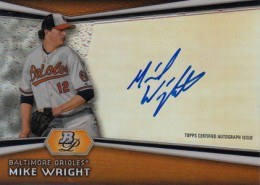 2012 Bowman Platinum Prospect Autographs Mike Wright 260x185 Image