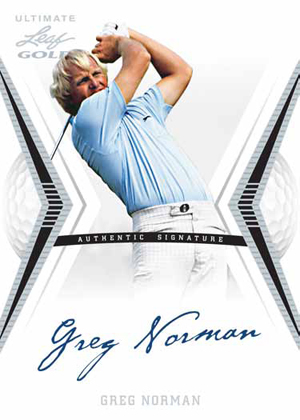 2012 Leaf Ultimate Golf Greg Norman Image