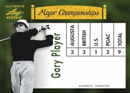2012 Leaf Ultimate Golf Major Championships Gary Player Image