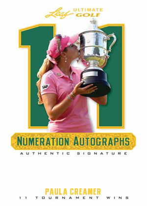 2012 Leaf Ultimate Golf Numeration Autographs Paula Creamer Image