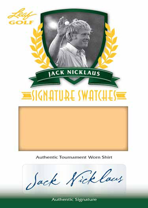 2012 Leaf Ultimate Golf Signature Swatches Jack Nicklaus Image