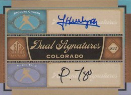 2012 SP Signature Edition Baseball Duall Autograph Jhoulys Chacin and Peter Tago 260x188 Image