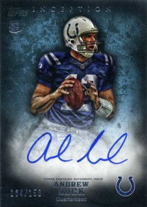 2012 Topps Inception Andrew Luck Autograph 150 213x300 Image