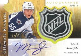 2011 12 Upper Deck Ultimate Collection Hockey Autographed Rookie Shield Mark Scheifele 260x181 Image