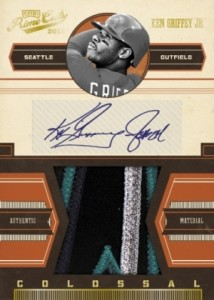 2012 Playoff Prime Cuts Colossal Autographed Patch Ken Griffey Jr 214x300 Image