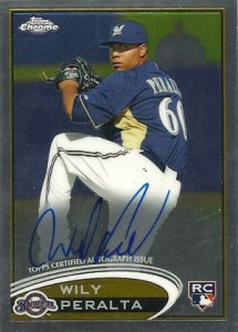 2012 Topps Chrome Baseball Autographs WP Wily Peralta 215x300 Image