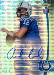 2012 Topps Finest Football Pulsar Refractor Autograph Andrew Luck 10 215x300 Image