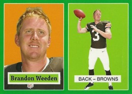 2012 Topps Football 1957 Green Border 17 Brandon Weeden 260x185 Image