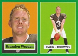 2012 Topps Football 1957 Green Border 18 Brandon Weeden 260x187 Image