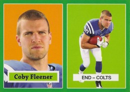 2012 Topps Football 1957 Green Border 19 Coby Fleener 260x185 Image
